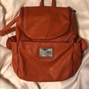 Orange Backpack Style Purse